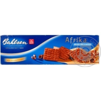 Waffles Bahlsen Africa milk chocolate 130g cardboard box Germany