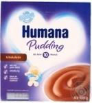 Пудинг Хумана детский шоколадный с 10 месяцев 3.3% пластиковый стакан 4х100г Германия