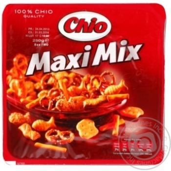 Набор соленого печенья Chio Maxi Mix 250г - купить, цены на Novus - фото 4