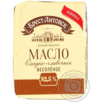 Масло Брест-Литовск сладкосливочное несоленое 82,5% 180г Беларусь