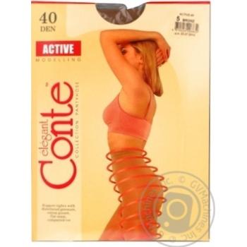 Колготи жiночi Active Conte 40 розмiр 5 bronz