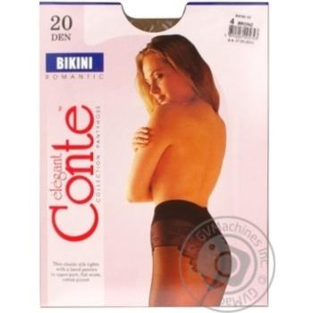 Колготы Conte Bikini 20 Den р.4 bronz шт