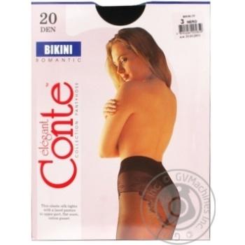 Колготы Conte Bikini 20 Den р.3 nero шт - купить, цены на Novus - фото 5