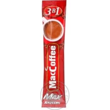 Напиток кофейный МакКофе 3в1 Макс Класик растворимый с сахаром и подсластителем в стиках 16г Сингапур - купить, цены на МегаМаркет - фото 8