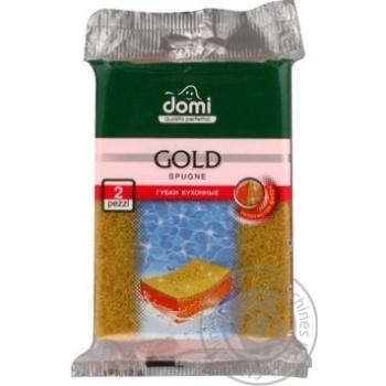 Губки кухонные Domi золото 2шт
