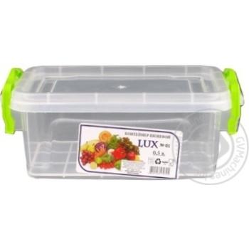 Контейнер пищевой Lux №1 с крышкой 162X112X65мм 0,5л - купить, цены на Таврия В - фото 3