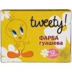 Фарба гуашева, 12 кольорів Cool for School Tweety по 10см? TW05672