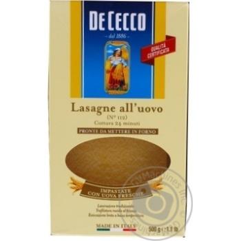 Pasta lasagnia De cecco 500g Italy