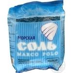 Сіль Marko Polo харчова морська дрібна в пакеті 1кг