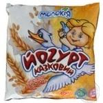 Йогурт Молокия Казковый злаки 3% 400г пленка Украина