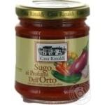 Sauce Casa rinaldi vegetable 190g glass jar