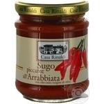 Sauce Casa rinaldi Piquant tomato 190g glass jar