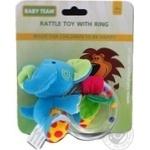 Игрушка-погремушка Baby Team с кольцом Слон - купить, цены на Фуршет - фото 2