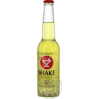 Напиток Шейк Эпл Тини слабоалкогольный газированный стеклянная бутылка 7%об. 330мл Украина