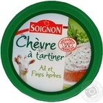 Сир Шевре Spreadable goat cheese garlic herbs 150г