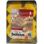 Свічка парафінова Bolsius плаваюча жовта 10шт