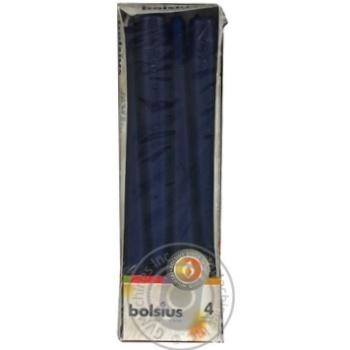 Набір свічок столових Bolsius темно-синій 245*24мм 4шт