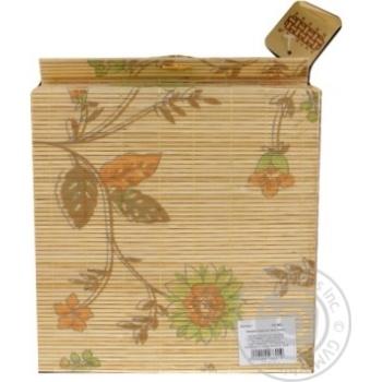 Скринька бамбукова Handy Home Квіти 4 секції AS-35C - купить, цены на Novus - фото 2