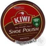 Крем для обуви Kiwi в банке коричневый 50мл