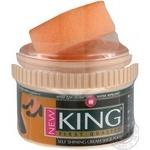 Крем для взуття King в банці з губкой чорний 55г