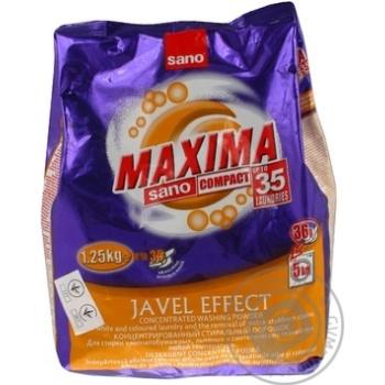 Powdered laundry detergent Sano Maxima Javel Effect automat 1250g