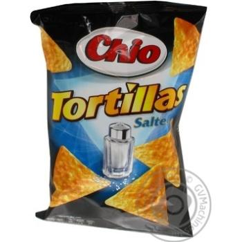 Чіпси Чіо Тортіллас кукурудзяні солоні 125г Німеччина
