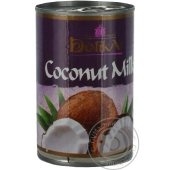 Молоко Делика кокосовое 19% 400мл Таиланд