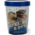 Ice-cream Hercules Cookies in hands 500g bucket Ukraine