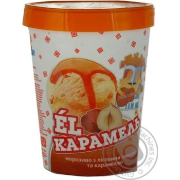 Ice-cream Hercules El caramel hazel-nut 500g bucket Ukraine