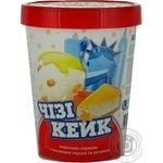 Морозиво сиркове Чізі Кейк з лимон.соусом та печивому Геркулес карт.стакан 500г