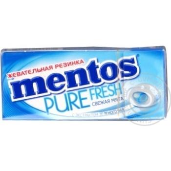 Жевательная резинка Mentos Pure Fresh Свежая мята с экстрактом зеленого чая 15г