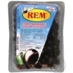 Оливки Рем маринованные черные без косточки 300г Турция
