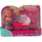 Игрушка Simba toys кукла Эви с малышом в коляске
