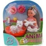 Игрушка кукла Еви с животными