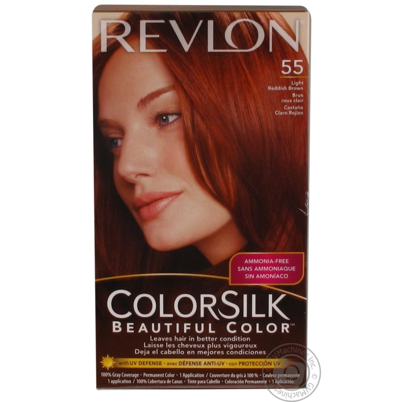 Colorsilk beautiful color 55 light reddish brown by revlon hair color - Color Revlon Color Silk Light Reddish Brown Ammonia Free For Hair