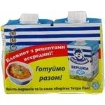 Сливки Простоквашино стерилизованная 400г тетрапакет Украина