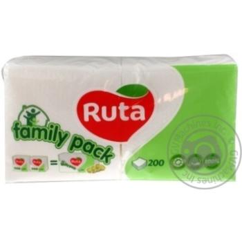 Салфетки Ruta Duo белые бумажные 1-слойные 24*24см 200шт - купить, цены на Novus - фото 6
