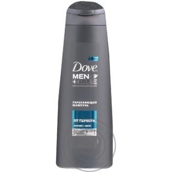 Шампунь Dove MEN+CARE Проти лупи зміцнюючий 250мл - купити, ціни на Novus - фото 1