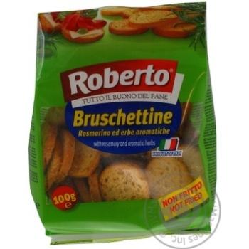 Сухарики Roberto Bruschettine розмарин-трави 100г