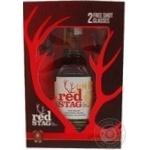 Набір подарунковий Віскі Bourbon Red Stag 0,7л+2бокала