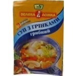 Soup Velyka lozhka mushrooms with croutons 20g packaged