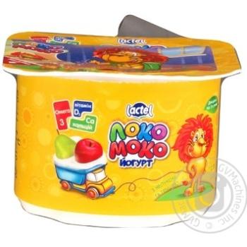 Йогурт Лактель Локо Моко яблоко-груша обогащенный кальцием омегой 3 и витамином D 1.5% 115г - купить, цены на Novus - фото 2