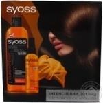 Набір подарунковий Syoss Oleo Intense шампунь 500мл,спрей 150мл,тюрбан для сушки волосся