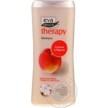 Шампунь для волосся Eva Natura Therapy з бавовняним молоком та екстрактом персика 300мл