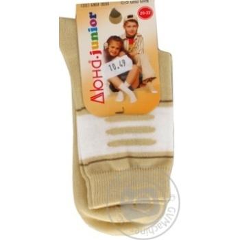 Duna Light Gray Children's Socks 22-24s - buy, prices for Furshet - image 6