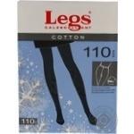 Колготки женские Legs Cotton 110 nero p.3 600 шт