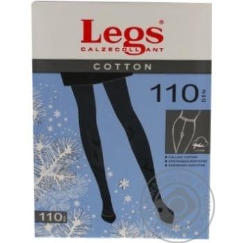 Legs Cotton 110 Den 3s Nero Women Tights