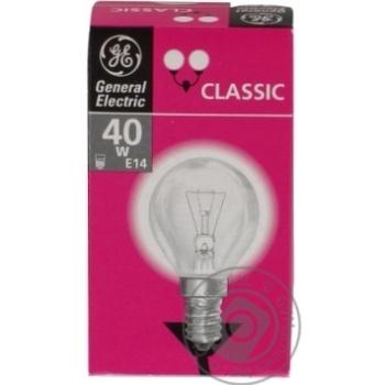 Лампа куля General Electric прозора 40Вт цоколь Е14