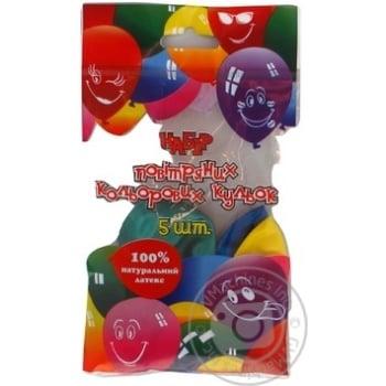 Кулі повітряні Все для свята Party Favors перламутр 5шт 61220/5 - купити, ціни на Novus - фото 4