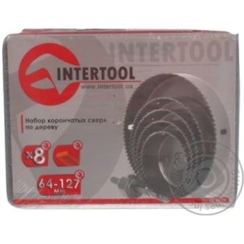 Набір корончатих свердел InterTool по дереву 64-127мм 8штBT-0024 8шт